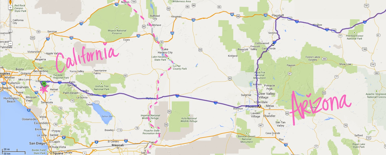 Day One California Arizona New Mexico And Texas California - Map of arizona and new mexico