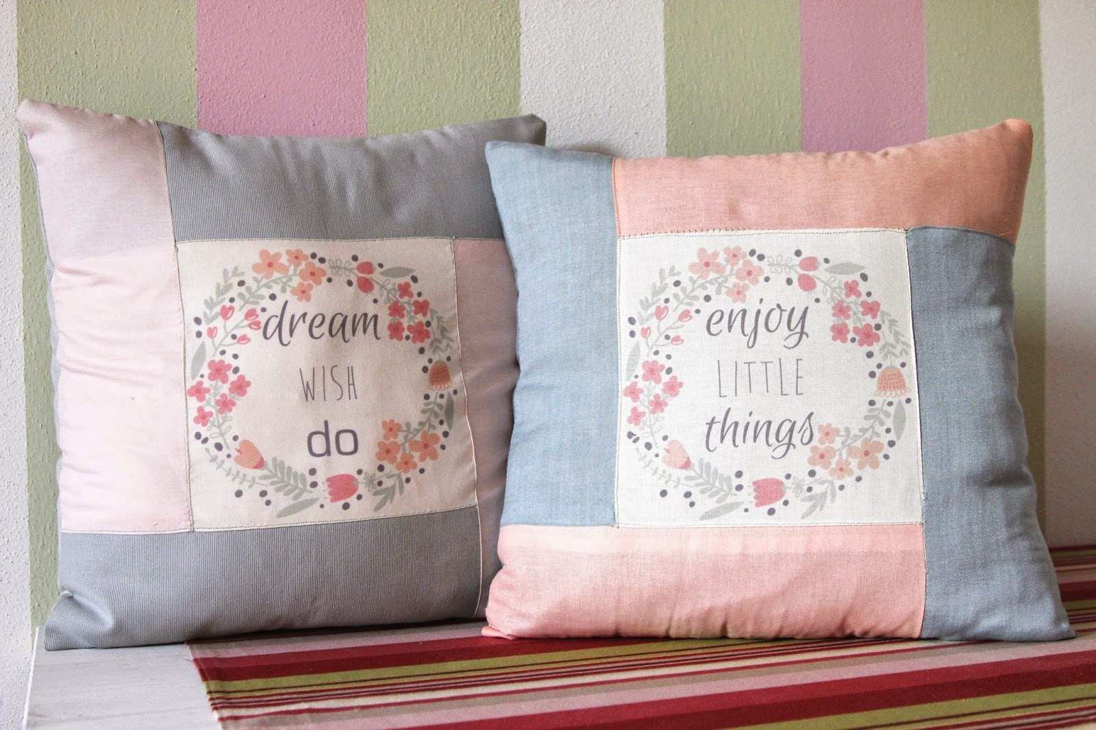 message garland cushion