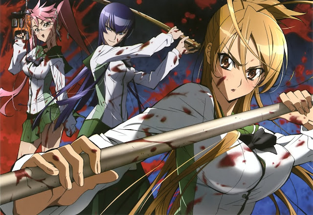 Las chicas de 'Highschool of the Dead'