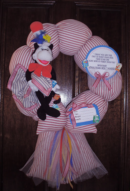"80. custom ""Dr. Seuss"" baby wreath"