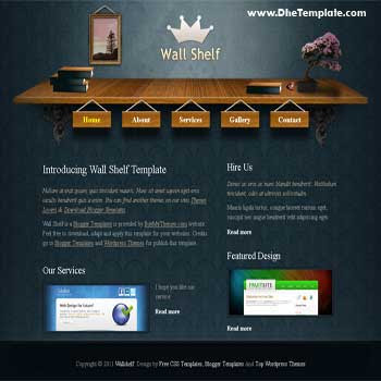 Wallshelf Blogger Template. blogger template for portfolio blog