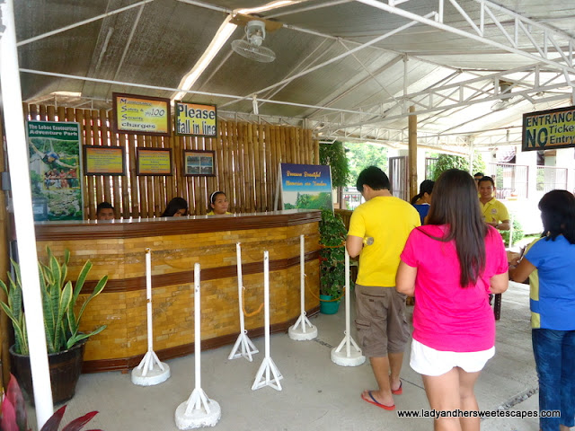 boarding counter at Loboc River Cruise Bohol