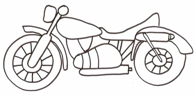 Son dibujos para colorear de motos
