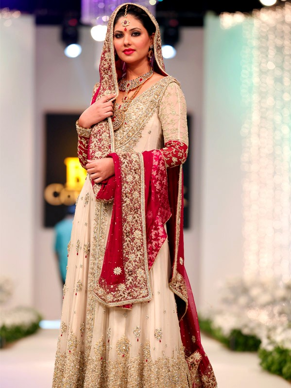 bridal couture week lahore lunch style pictures