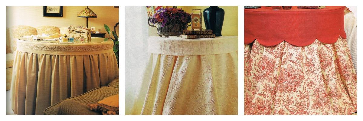 Patrones de costura tapetes para faldas de camillas - Mesas camillas redondas ...