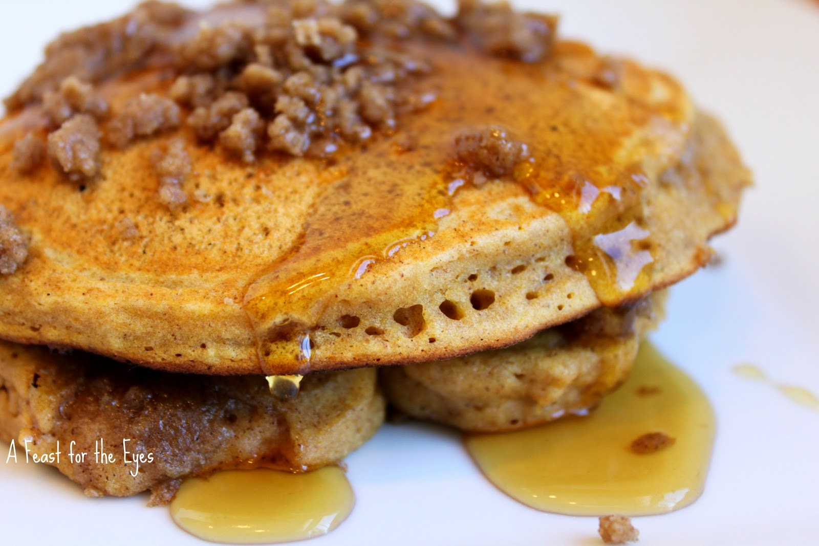 Feast for the Eyes: Pumpkin-Cinnamon Streusel Pancakes