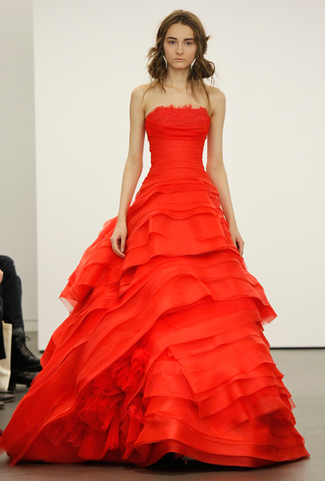 Wedding dresses red wedding dresses 2013 for Wedding dresses with red in them