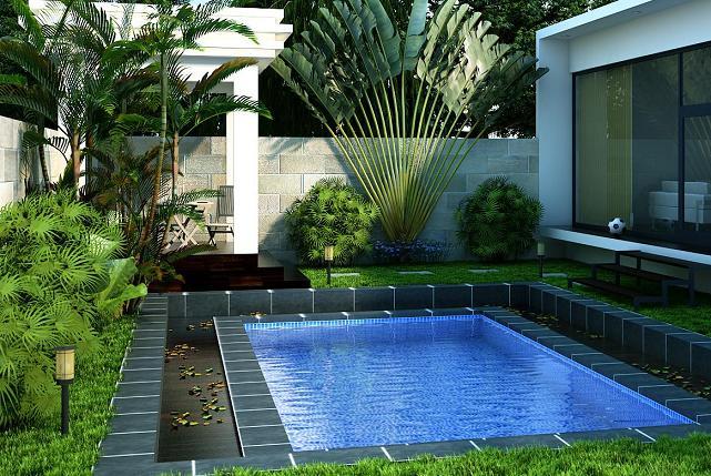 desain kolam renang pribadi gambar rumah idaman