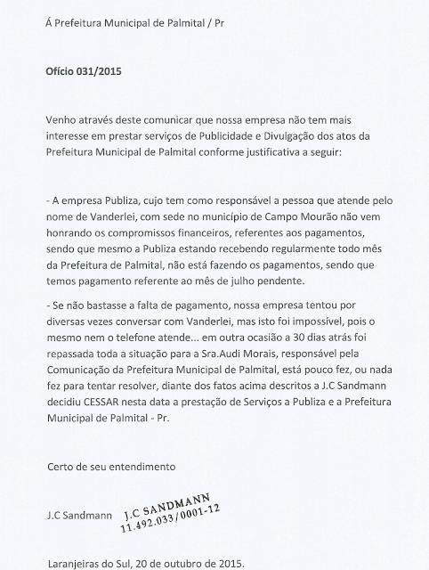 Palmital: Jornal encerra serviços com a prefeitura por falta de pagamento