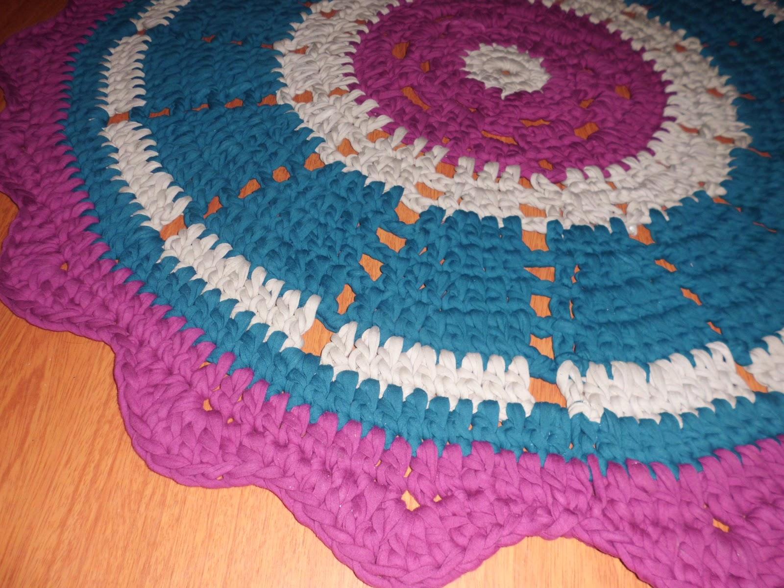 tejido a crochet alfombra ganchillo