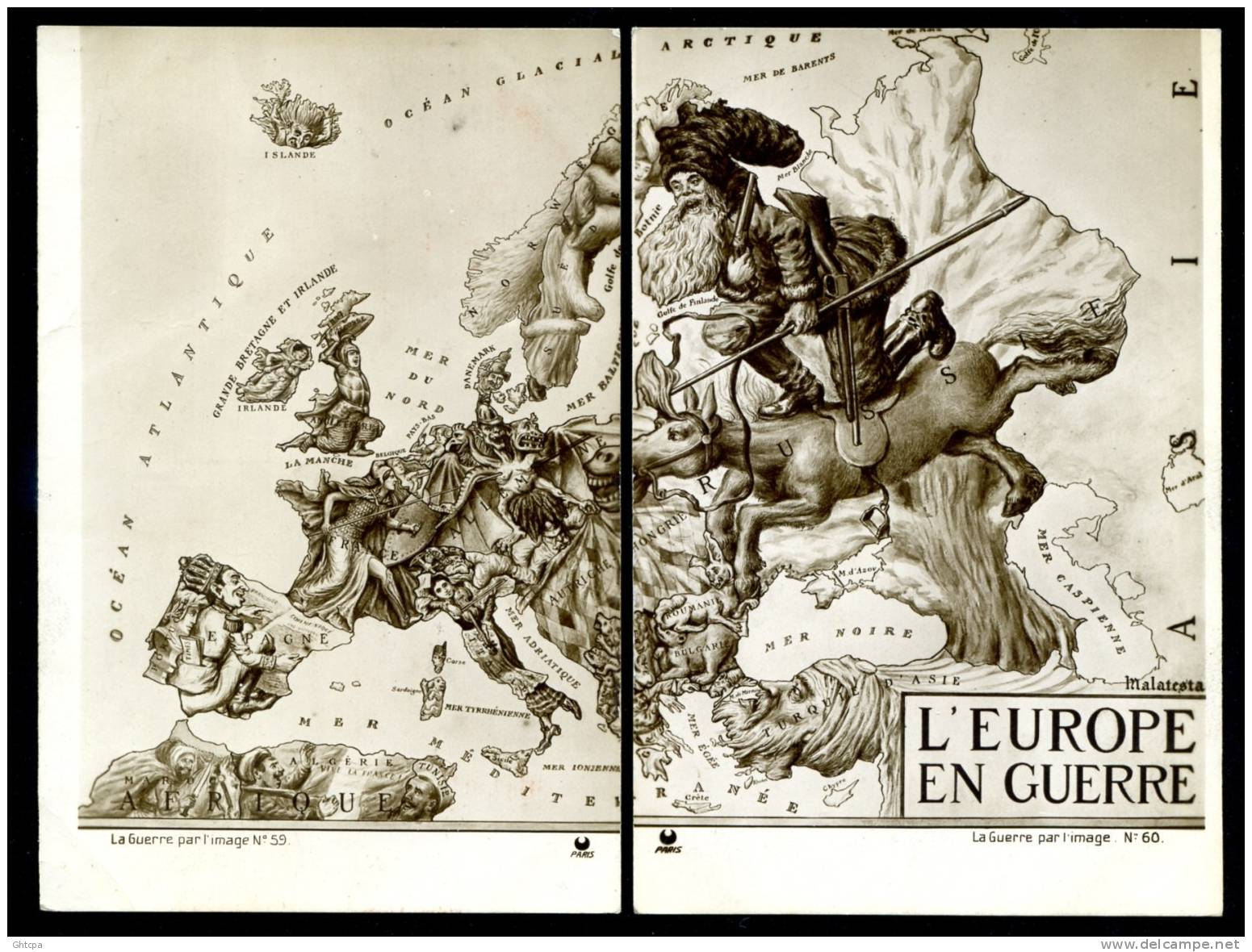 Caricature map of Europe at War (1914)