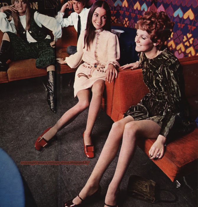Speakeasy London fashion - Mary Quant - Twiggy dress - 1967 60s 1960 Charles Jourdan