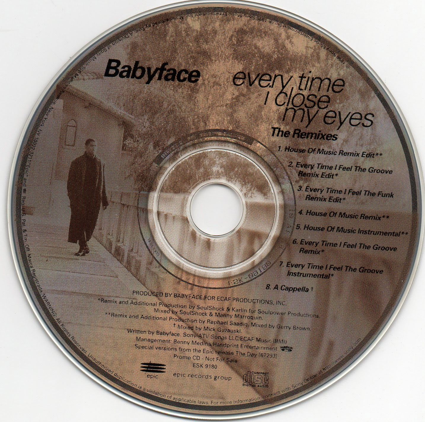 Babyface - Every Time I Close My Eyes (The Remixes) (Promo CDS) (1996)