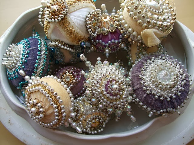 Vintage Pushpin beaded Ornaments Photo By DreamsIntertwined