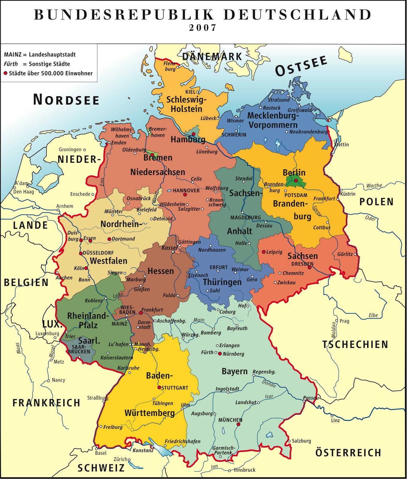 Regionen In Deutschland Karte - Deutschland Und Schweiz Karte