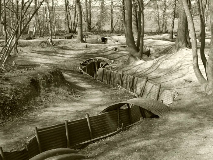 Preserved trenches, Word War One, Sanctuary Wood, Ypres Salient