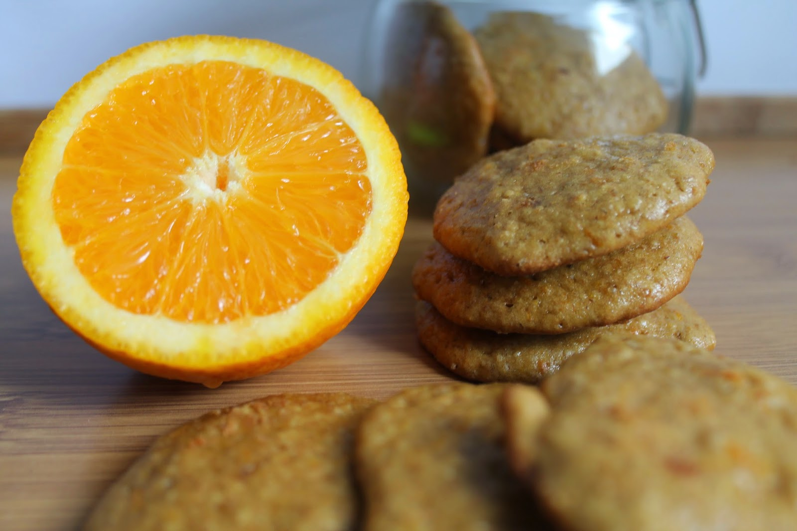 Galletas integrales de naranja