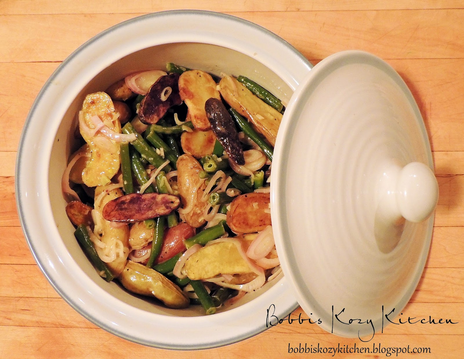Warm Potato and Green Bean Salad for #SRC | Bobbi's Kozy Kitchen