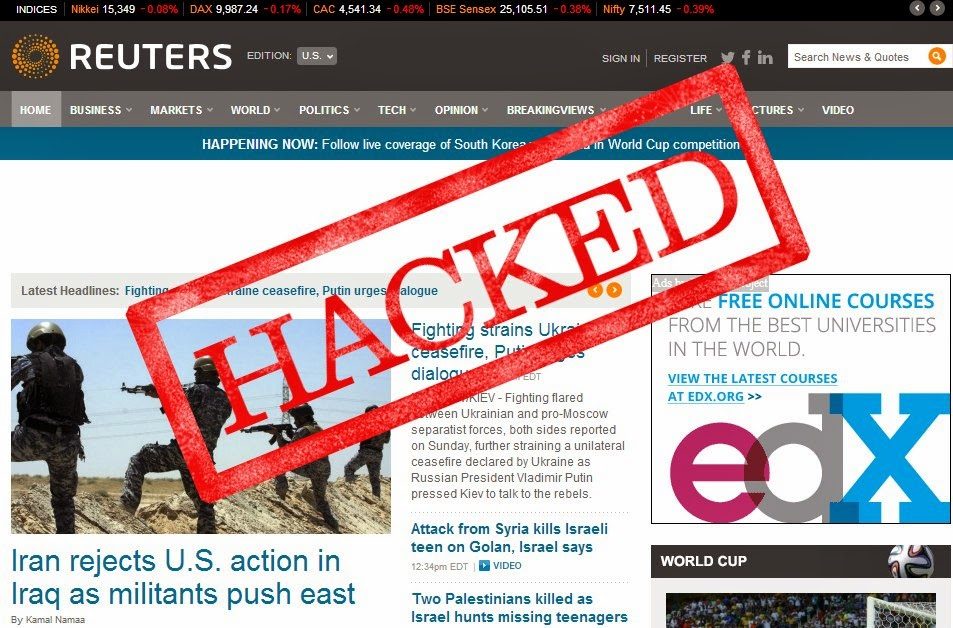 PayPal, Syrian Electronic Army, Taboola hacked, Reuters hacked