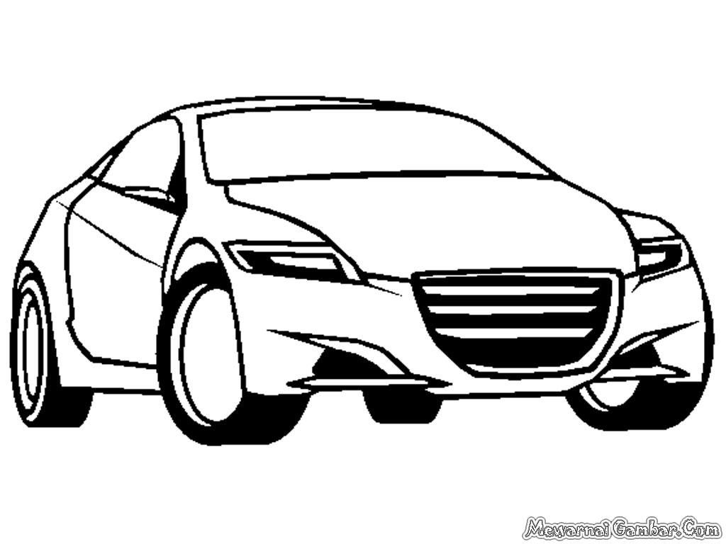 Mewarnai Gambar Mobil Honda CRZ Concept
