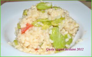 risotto con fave