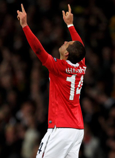 Manchester United Champions League javier chicharito hernandez