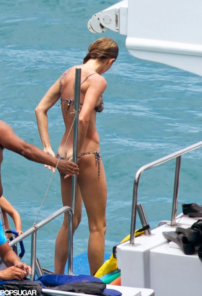 Celeb Diary: Gisele Bündchen on a yacht near the island of ...