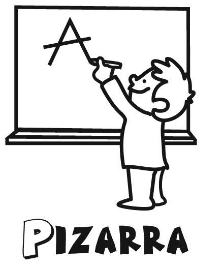 Colorea tus dibujos ni o escribiendo en pizzara para colorear for Tablero del deco del sitio del bebe