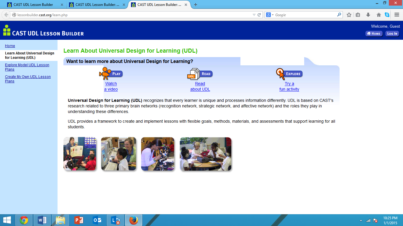 Teaching With Technology - Universal design for learning lesson plan template