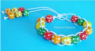 Wooden Beaded Bracelet - Kid's Craft