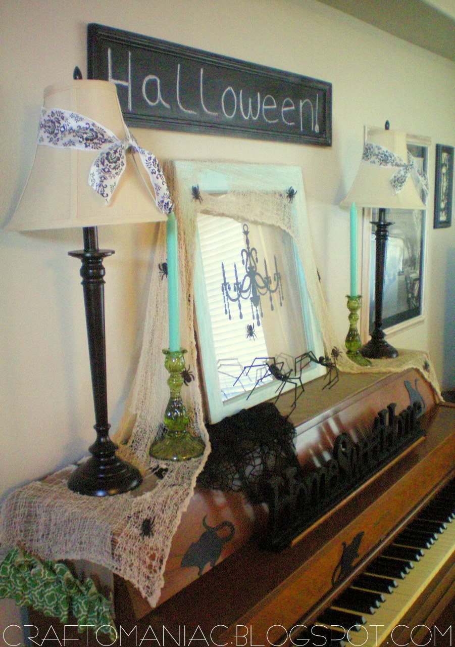 Halloween Decor Creepy Crawly Piano Craft O Maniac