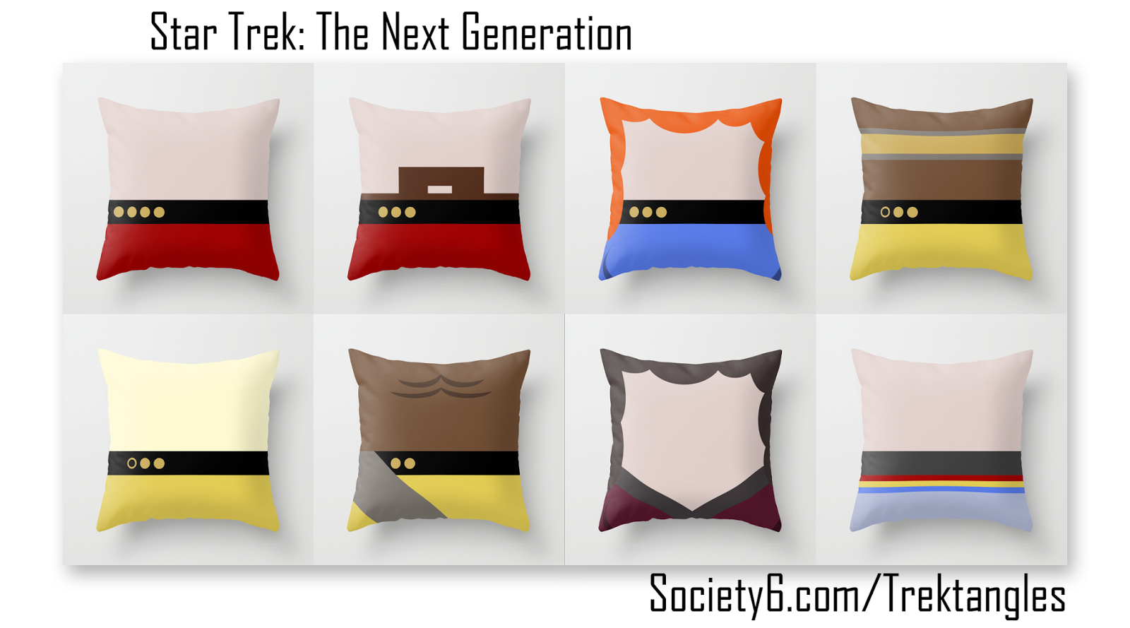 Star Trek: The Next Generation - Throw Pillows