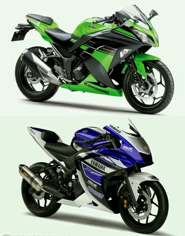 Yamaha R25 vs Kawasaki Ninja 300