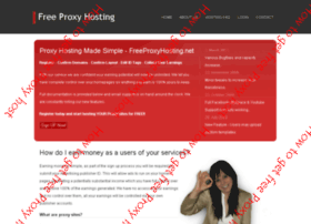 How to get free Proxy hosting