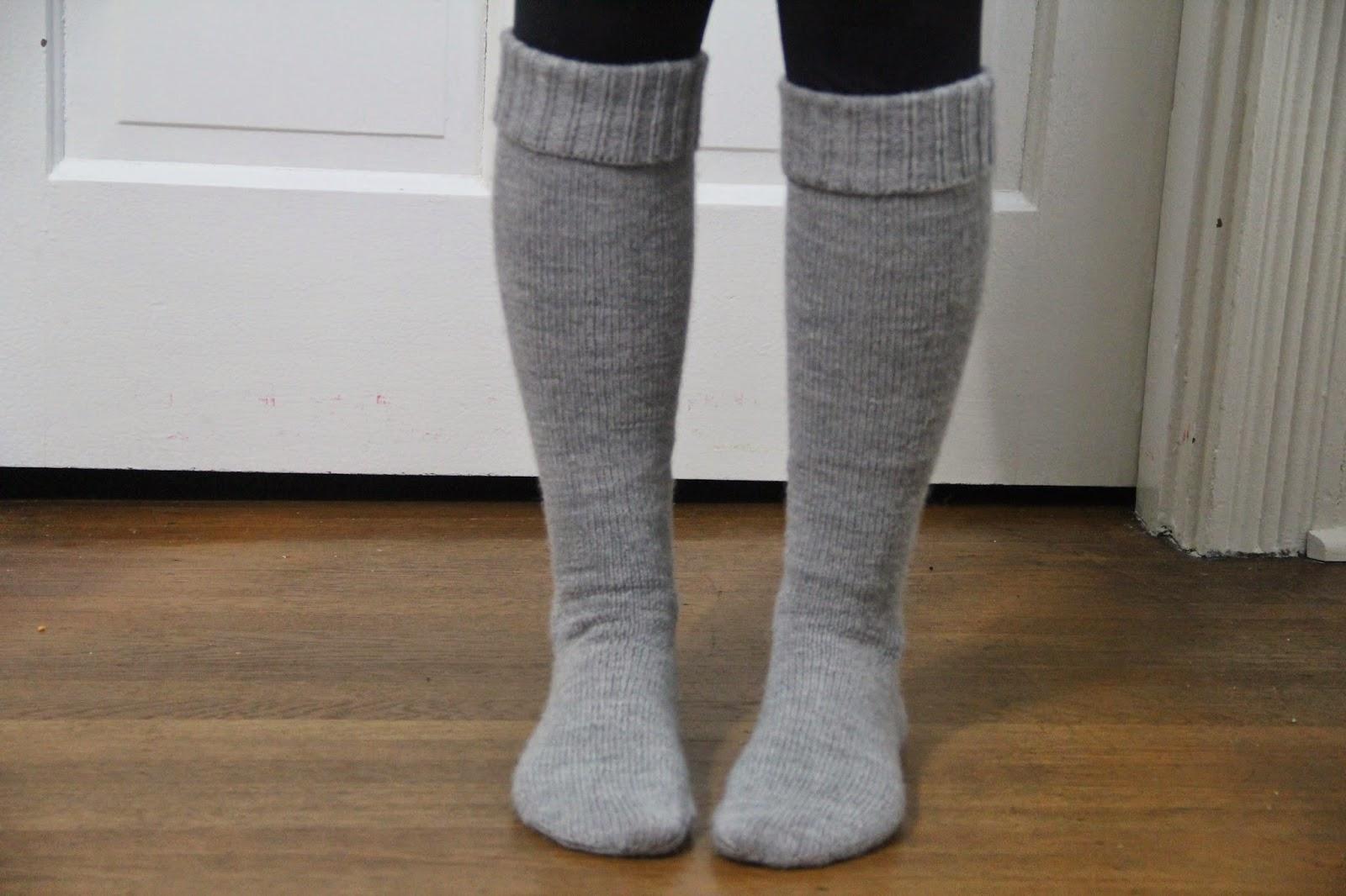 alpaca cabled knee socks
