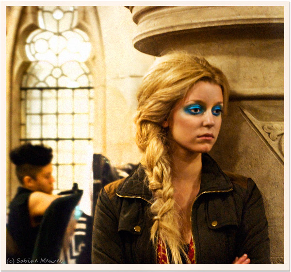 Psynopsis Istituto Marangoni Graduate Show Model Blue Eyeshadow