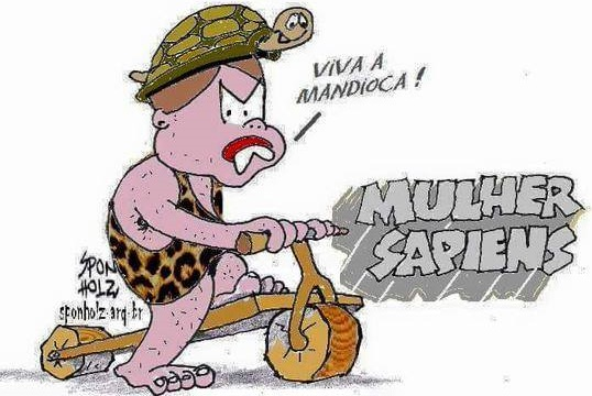 """Um amigo meu encontrou um exemplar da """"mulher sapiens"""" que tia Dilma descobriu"""