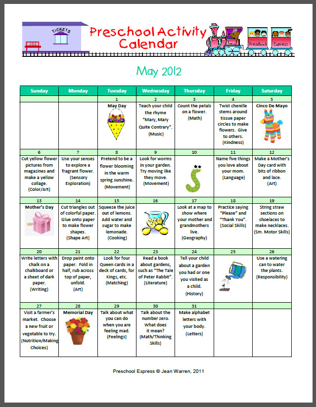 Kindergarten Calendar For Parents : The budget slp may