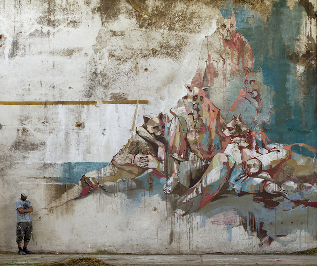 Sepe is keeping himself busy with yet another indoor piece which just popped up somewhere in Wolczyn, Poland.