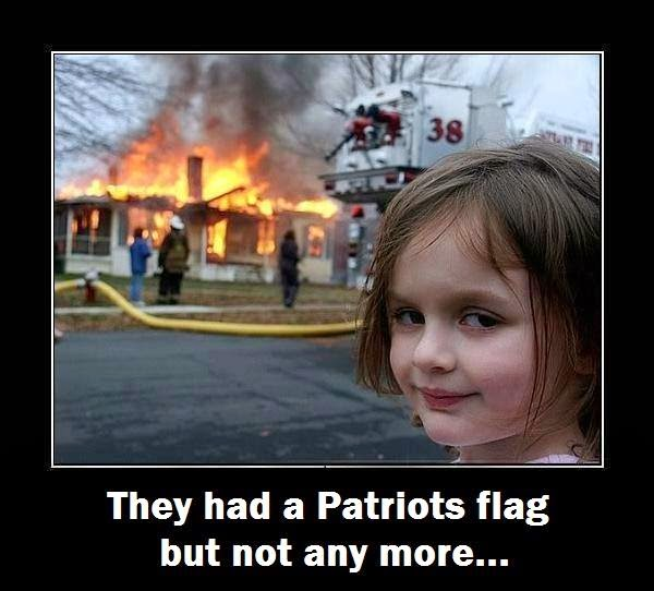 They had a Patriots flag but not any more...