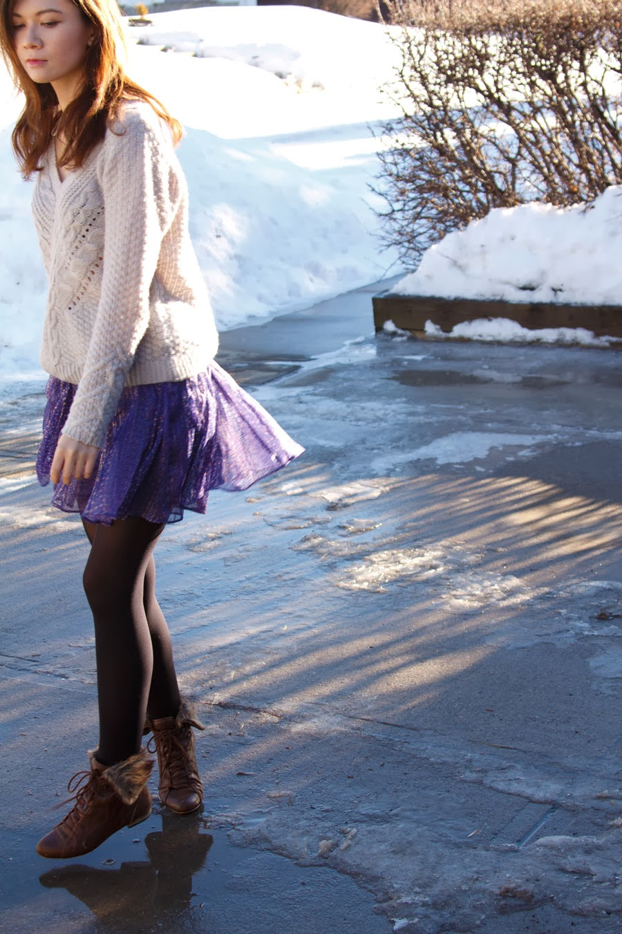 Winter Skirt, winter fashion, spring fashion, boots, american eagle, h&m, marc jacobs, michael kors watch