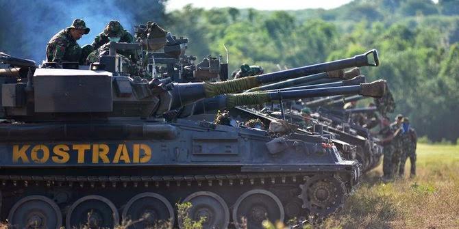 Kekuatan tank Indonesia kalah dari Singapura & Malaysia
