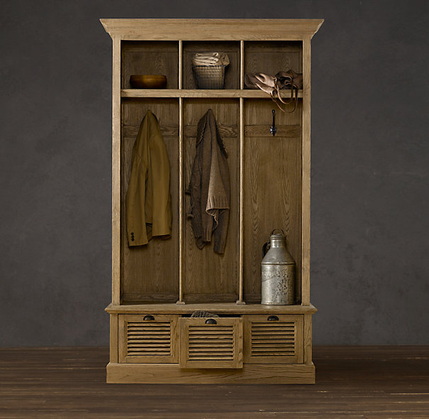 Copy cat chic restoration hardware shutter weathered oak entry locker - Restoration hardware entry table ...