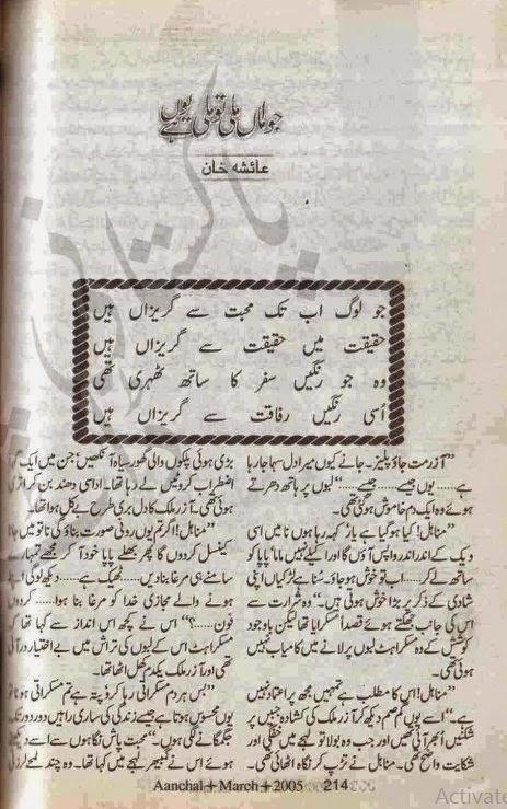 Free download Jo aman mili to mili hay youn novel by Ayesha Khan pdf, Online reading.