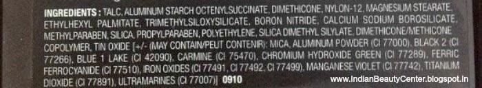 Wet n Wild Coloricon 8-Pan Eyeshadow Palette Ingredients