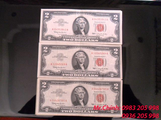 đổi tiền 2 đô 1928