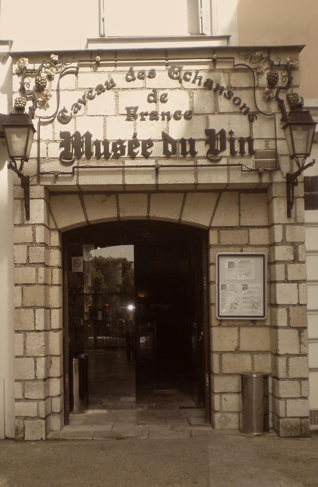 imágen de puerta de entrada al musée du vins paris