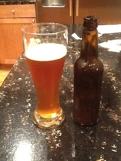 Smokin Dirty Blond Ale in a glass