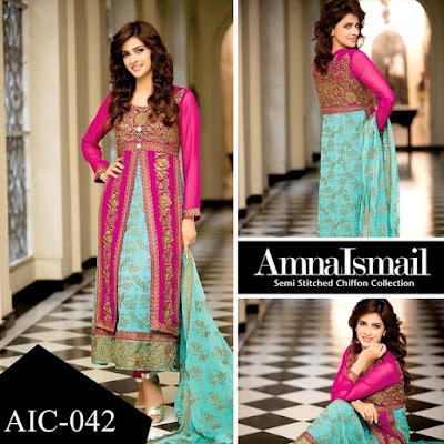 Amna Ismail Wedding Wear Dresses 2016