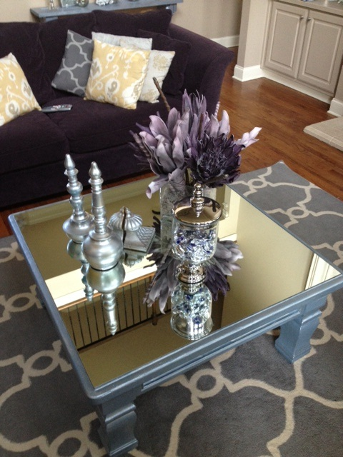 That was a what my love affair with mirrorsthe story for Amazing mirrored coffee table